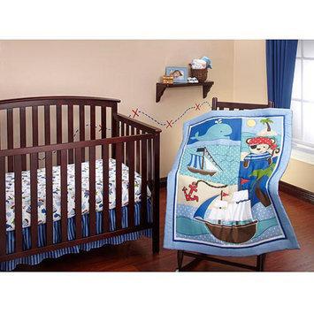 Crown Crafts Little Bedding by NoJo - Baby Buccaneer 3pc Crib Bedding Set - Value Bundle