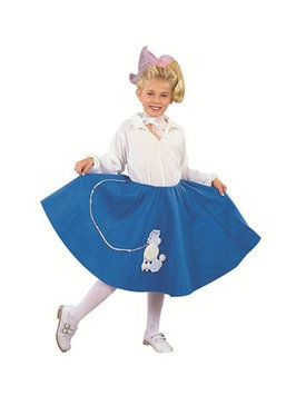 RG Costumes 91031-BL-M Blue Poodle Skirt Costume - Size Child-Medium