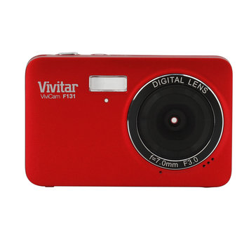 Iconcepts Vivitar ViviCam F131 14.1MP Digital Camera Red - ICONCEPTS