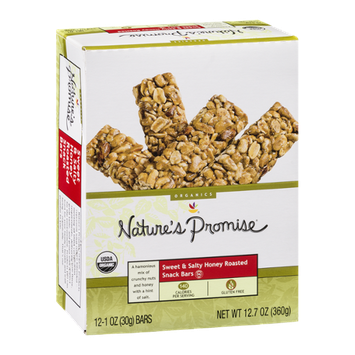Nature's Promise Sweet & Salty Honey Roasted Snack Bars - 12 CT