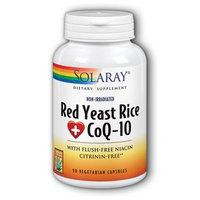 Solaray Red Yeast Rice Plus CoQ-10 -- 90 Vegetarian Capsules