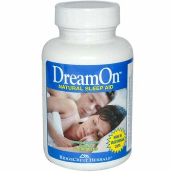 RidgeCrest Herbals DreamOn Natural Sleep Aid 60 Capsules