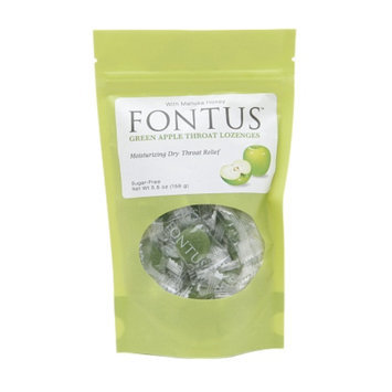 Fontus Throat Lozenges With Manuka Honey, Green Apple, 50 ea