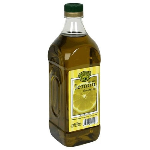 Auguri Meyer Lemon Flavored Extra Virgin Olive Oil, 33.8-Ounce Bottles (Pack of 3)
