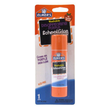 Elmers Elmer's Disappearing Purple School Glue Sticks, Large .77 Oz