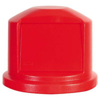 Box Partners RUB124D 44 Gallon Brute Container Domed Lid Red