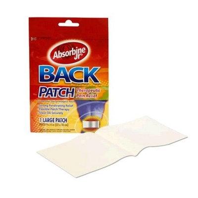 Absorbine Jr Back Patch - Therapeutic Pain Relief - Pack of 3