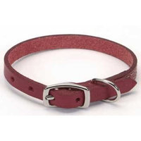 Coastal Pet Products DCP110618RED Leather Circle T Oak Tanned Town Dog Collar, 18 by 3/4-Inch, Red