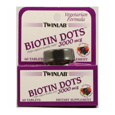 Twinlab Biotin Dots Mixed Berry 3000 mcg 60 Tablets