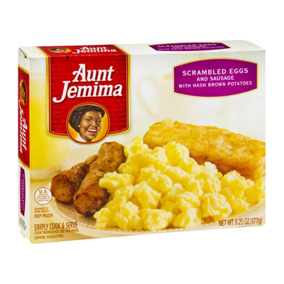 Aunt Jemima Scrambled Eggs and Sausage