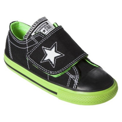 Toddler Converse One Star One Flap Sneaker - Black/Green 11