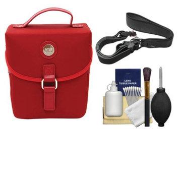 Jill-E Jill-e Microfiber Snap DSLR Camera Case with Detachable Shoulder Strap (Red) with Camera Strap + Accessory Kit