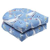 Pillow Perfect Outdoor 2-Piece Wicker Seat Cushion Set - Set Sail