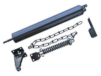 Ideal Security Inc. Heavy Duty Door Closer in Painted Black with Door Chain SK8730BL