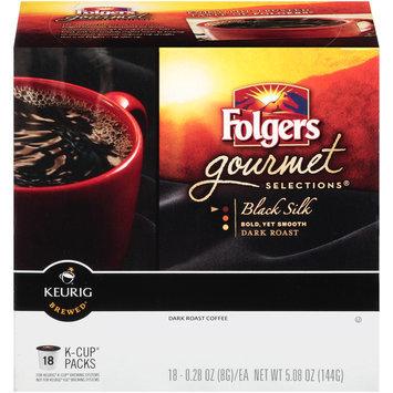 Folgers Gourmet Selections K-Cups Black Silk Dark Roast Coffee, 18ct