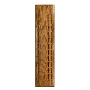 Wood Expressions Stained Oak Competition Cribbage Set