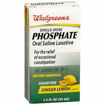 Walgreens Single-dose Phosphate Oral Saline Laxative