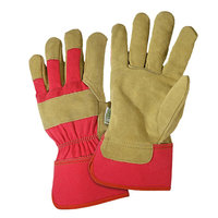 West Chester Marketing, Inc Women's Leather Palm Rub Safety Cuff Glove - Large