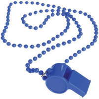 Us Toy Group Solid Color Spirit Whistles Blue Dozen
