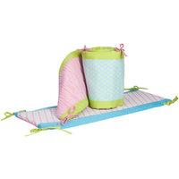 Pam Grace Creations Aqua Peacock 4 Piece Crib Bumper Set