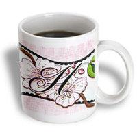 Recaro North 3dRose - Dooni Designs Monogram Initial Designs - Cherry Blossom Flower Monogram Initial H - 15 oz mug