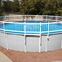 Topo-logic Systems, Inc. TOPO-LOGIC SYSTEMS, INC. Protect A Pool Pool Safety Fence, Kit A Tan Base Kit (8 sections) - TOPO-LOGIC SYSTEMS, INC.