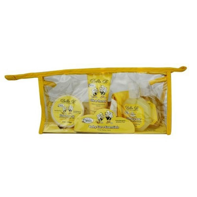 Bella B Baby Essentials Gift Set - 4 Pc - Trial Size Bubble Bath, Squeaky Bee Shampoo & Body Wash, Silk & Honey Baby Lotion and Little Bee Soothing Chest Rub