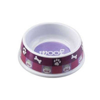 Ethical Pet Products (Spot) DSO6851 Designer Woof Plastic No-Tip Dog Dish, 6-Inch, Pink