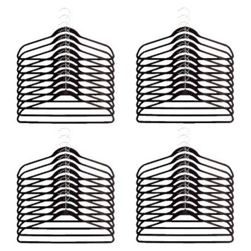 Joy Mangano Huggable Hangers 40-Pc. Suit Hangers - Black
