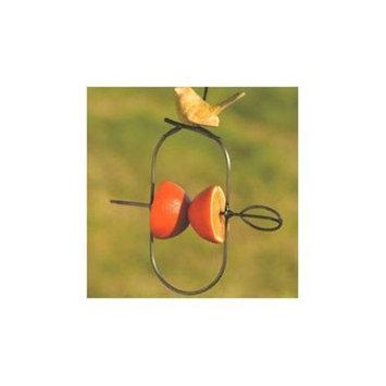 Ancient Graffiti Ceramic Fruit Spear Decorative Bird Feeder Set of 4