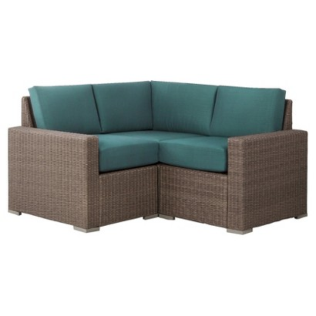 Outdoor Patio Furniture Set: Threshold 3 Piece Turquoise (Blue)