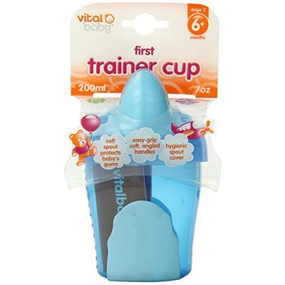Vital Baby First Trainer Cup, Blue, 7 Ounce