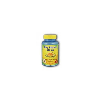 Nature's Life Magnesium Citrate Tablets, 500 Mg, 60 Count