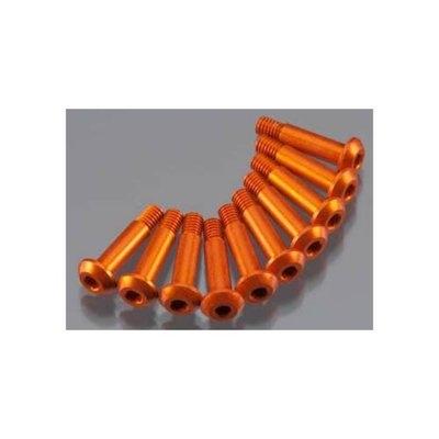 HPI 104154 Aluminum Step Screw 3.2x14mm Orange (10)
