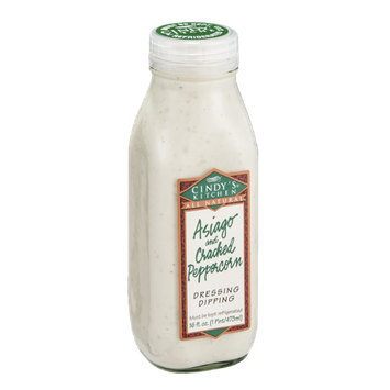 Cindy's Kitchen All Natural Dressing Dipping Asiago and Cracked Peppercorn