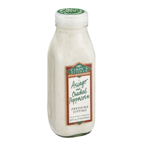 Cindy S Kitchen All Natural Dressing Dipping Asiago And Cracked Peppercorn
