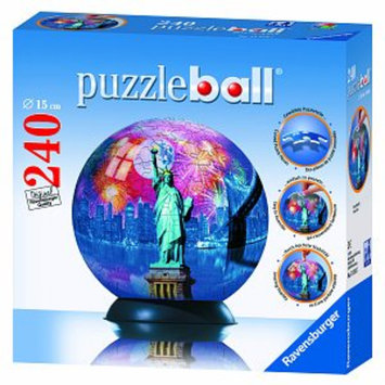 Ravensburger Puzzle Ball - New York City: 240 Pcs Ages 10+, 1 ea