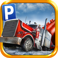 Play With Friends Games 3D Ice Road Trucker Parking Simulator Game