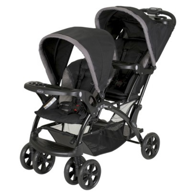 Baby Trend Baby Sit N Stand Double Stroller - Chrome