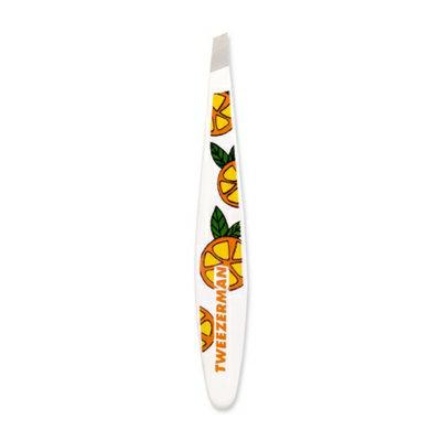 Tweezerman Fresh & Fruity Mini Slant Tweezer Series - Orange