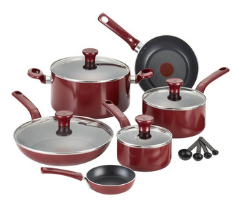 T-fal Excite Nonstick 14-pc Red Cookware Set