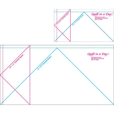 Quilt In A Day Flying Geese Ruler-Jumbo 2 Pieces