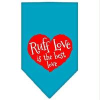 Ahi Ruff Love Screen Print Bandana Turquoise Large