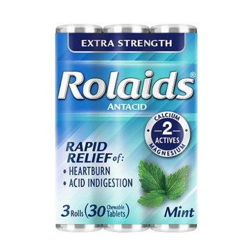 Rolaids Extra Strength Tablets 3 X 10 Roll Pack, Mint, 30 ea