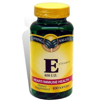 Spring Valley - Vitamin E 400 IU, 100 Softgels