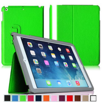 Fintie Ultra Slim Leather Standing Case Cover Auto Sleep / Wake Feature for iPad Air 5 (5th Generation), Green