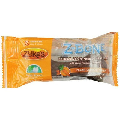 Zuke's Z-Bones Edible Grain-Free Dental Chews, Clean Carrot Crisp, Large 2.5-Ounce, Individually Wrapped Bone