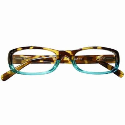 ICU Eyewear Eco-Friendly Reading Glasses Full Rectangle Frame in Two-Tone  +1.50