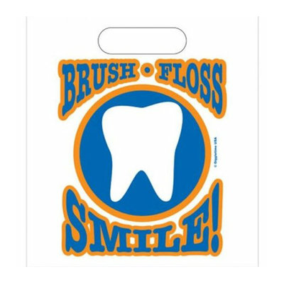 Oral Choice 3433-A Brush Floss Smile Gift Bag 1 pc
