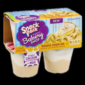 Snack Pack Bakery Shop Banana Cream Pie Pudding - 4 PK